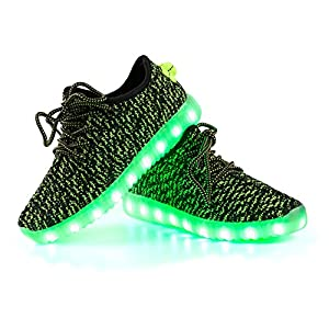 LED Shoes,LEADFAS 7 Colors Light up Sneaker Unisex Men Women Sport Outdoor Athletic USB Charging Trainers For Party Christmas Halloween Gift Boys Girls LED Couple Sneaker