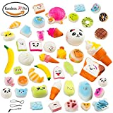 Amaza 30pcs Kawaii Squishies Slow Rising Soft Bath Toys Stress Relief Toys for Adult and Kids (Random)