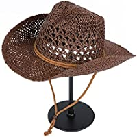 Nuevo parasol ULTRAVIOLETA de la pantalla solar al aire libre del montar a caballo del recurso de la playa del verano de la manera de los hombres, tamaño: los 8cm * 54-60cm (Color : Color cafe)