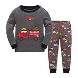GSVIBK Jungen Pyjamas Kinder Baumwolle Herbst Kleidung Pyjama Set (Baby Größe 1-7 Jahre) 8021 C 3-4Y