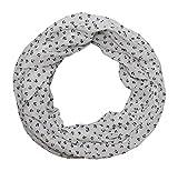 Anker Marine Damen Loop Schal aus hochwertiger Seide & Baumwolle (weiß blau neu)