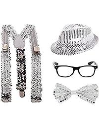 Set di accessori per costume in maschera con paillette luccicanti 9ab1b0ab68d4