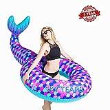 SKY TEARS Schwimmring Meerjungfrau Aufblasbarer Schwimmring Luftmatratzen Pool Float 120cm