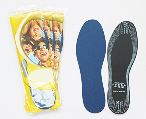 Preisvergleich Produktbild 4 x Einlegesohlen Einlegesohle Sohlen Schuh Einlagen Schweiß Schweißfüße