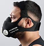 Phorb Training Mask schwarz Größe M Atemmaske für Crossfit Trainingsmaske steigert Ausdauer Fitness Kondition ähnelt Höhentraining -