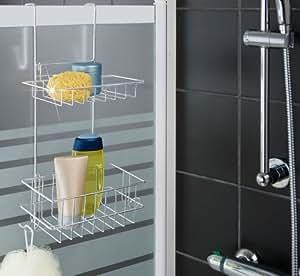 Wenko wen18566800–Étagères (acier inoxydable, argent, salle de bain)