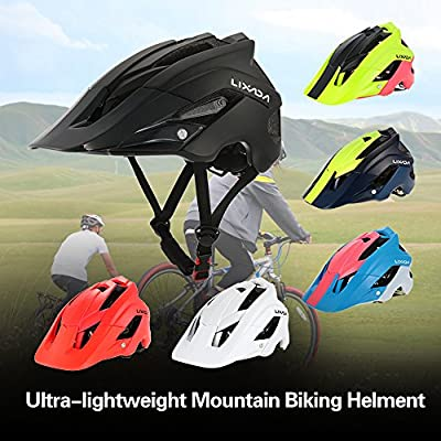 Lixada Mountain Bike Helmet Cycling Bicycle Helmet Sports Safety Protective Helmet 13 Vents Comfortable Lightweight Breathable Helmet for Adult Men/Women from Lixada