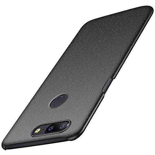 OnePlus 5T Hülle, Anccer [Serie Matte] Elastische Schockabsorption und Ultra Thin Design für Oneplus 5T [Serie Matte] (Kies Schwarz)