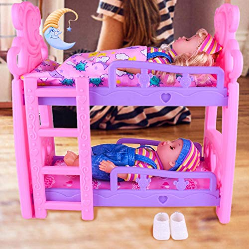 Bouncevi Literas bebés Cuna doble Estilo europeo