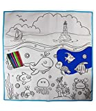 Vivir Washable Coloring Mat with Color Pens Coloring Set for Kids