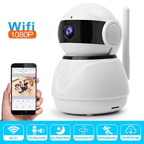 Meteor fire 1080P FHD WiFi IP Kamera Infrarot Nachtsicht Heimüberwachung mit 360 Grad Panoramaaufnahme Unterstützung Multi-Plattform-Anzeige, für Kind/Haustier/Ältere