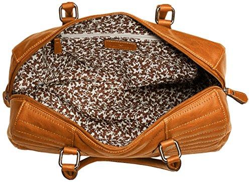 Tom Tailor Acc PATTY 16006 Damen Henkeltaschen 35x22x16 cm (B x H x T) Beige (camel 24)
