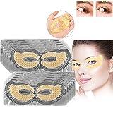 50 Paar Kollagen Golden Eye pad Augenpads, Crystal Collagen Remove Dark Circles Feuchtigkeitsspendende Fade Fine Lines Anti-Aging Augenmaske(Gold)