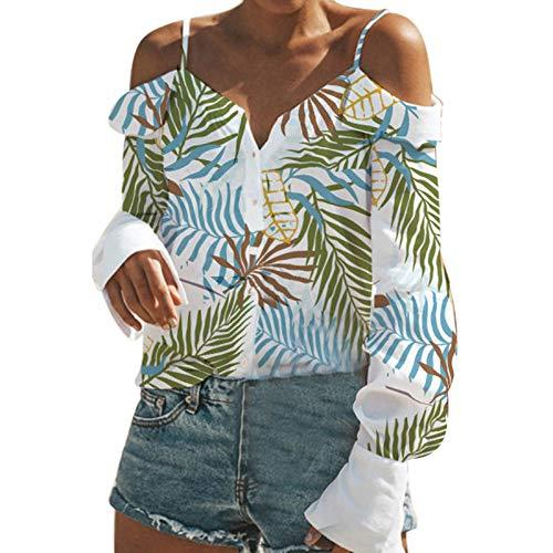 Yvelands T Shirt Damen Sommer Bluse Damen Weste Tank Top Crop Lose Blusen Große Größe Mode ()