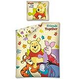 Parure de lit housse de couette réversible Winnie L'ourson Disney 100% coton