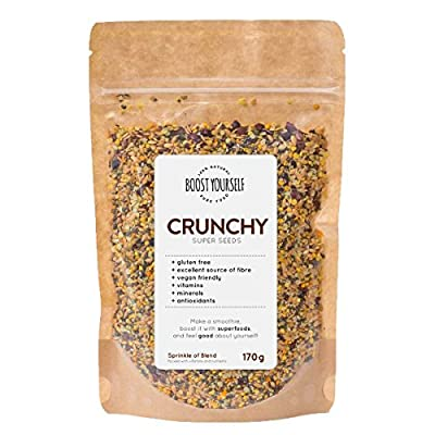 Crunchy Super Seeds by Boost Yourself for Stress Relief and Vitality - Crunchy Antioxidants Minerals and Vitamins to Boost Your Body from Boost Yourself
