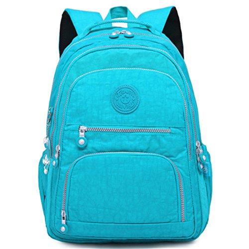 Frauen Rucksack Schultasche Für Teenager Mädchen Rucksäcke Große Weibliche Reise Laptop Bagpack Hohe Qualität Sac Blue 19 inches (Aldo-computer)