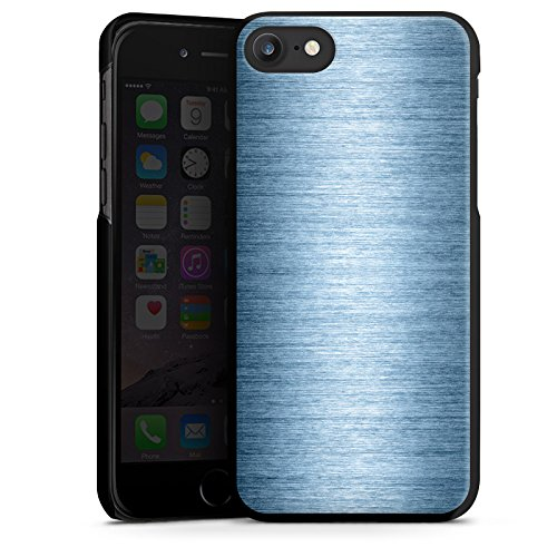 Apple iPhone X Silikon Hülle Case Schutzhülle Metall Look Metal Look - Indigo Hard Case schwarz