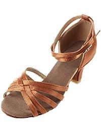 Mujer Zapatos Tacon - Generico 1 par Mujer Zapatos Tacon De Salsa Bachata Latinos Baile Sandalias