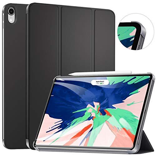 ZtotopCase Hülle für iPad Pro 12.9 Zoll 2018(3rd Gen),Ultra dünn smart Schutzhülle Case mit Automatischem Schlaf/Aufwach, Unterstützt Das Aufladen des iPad Pencil, für iPad Pro 12.9 2018 - Schwarz
