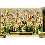 Personalice los murales de pared 3d decoración para el hogar Orquídea jade talla 3d fondos de pantalla para la sala de estar mural 3d papel tapiz-400x280cm