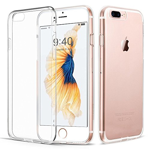 "iPhone 7 Plus Hülle, Vkaiy iPhone 7 Plus Schutzhülle Transparent Handyhülle Crystal Clear Silikon Durchsichtig TPU Bumper Case für iPhone 7 Plus (5,5"")"