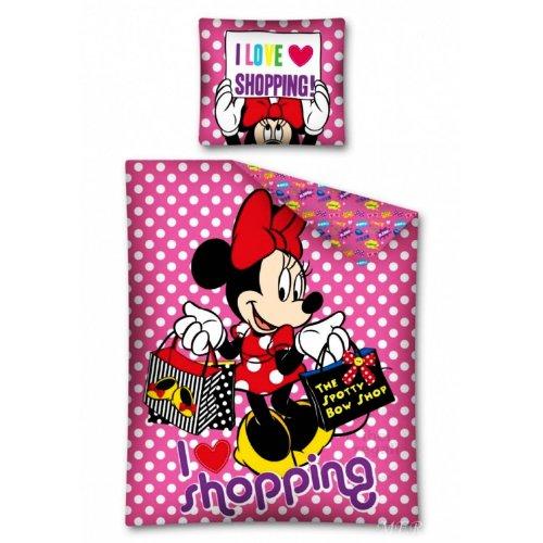 Copripiumino Copriletto Singolo Cotone Disney Minnie Topolina 160x200 Cm Federa 70x80 Cm Una Piazza - Spotty Bow Shop