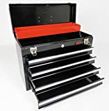 Dirty Pro Tools™ WITH DRAWER DIVIDERS PORTABLE LIGHTWEIGHT 4 DRAWER TOOL BOX CHEST WITH KEY LOCK AND BALL BEARING SLIDES DRAWERS WITH DRAWER DIVIDERS