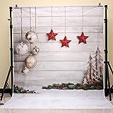 NIVIUS PHOTO® 150*220cm Weihnachten Fotografie Hintergrund Newborn Weihnachtsfoto Hintergrund für Fotostudio Weihnachtsfeier xt-4338