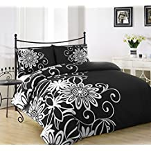 housse de couette noir et blanche. Black Bedroom Furniture Sets. Home Design Ideas