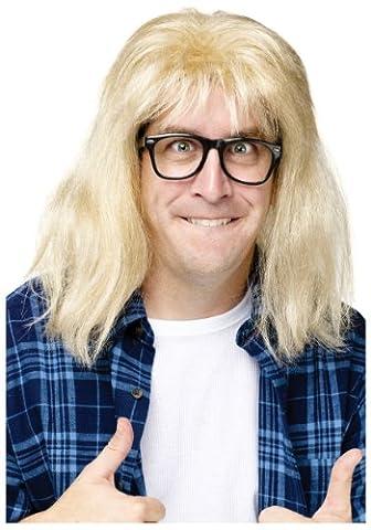 Saturday Night Live Wayne's World Garth Algar Wig & Glasses Costume Set (Costume World)