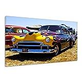Auto Oldtimer Treffen Front Scheinwerfer Leinwand Poster Druck Bild uu0963 60x40