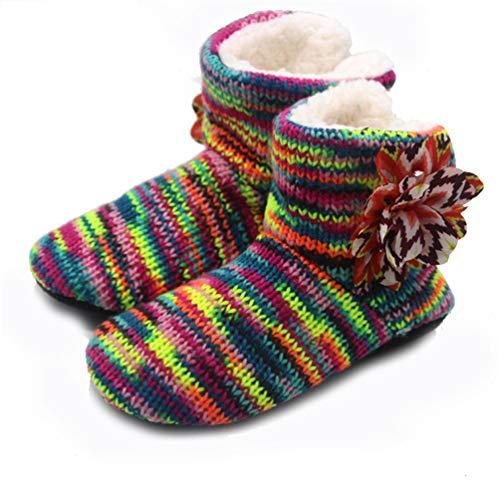 Baumwolle Hausschuhe für Frauen warme weiche Winter Rutschfeste Stiefel verdicken Plüsch Indoor Haushalt Schuhe