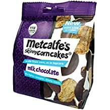 Metcalfe's Skinny Mini Corn Cakes Milk Chocolate 50 g (Pack of 6)