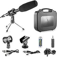 Neewer® Profesional DSLR Micrófono Kit para Canon EOS DSLR 5d mark ii iii 6d 7d 7d ii 70d 60d T6S T6i T5i T4i T3i SL1Cámaras, Micrófono de condensador de aleación de aluminio con accesorios–negro