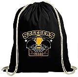 Steelers Premium Turnbeutel   1933   Super Bowl   American Football   Unisex   Gymbag, Farbe:Schwarz (Gymbeutel);Größe:37cm x 46 cm