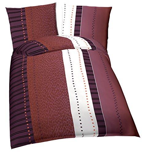 Bettwäsche Bettgarnitur feine Baumwolle 135x200 / 80x80 Colorful dark brown 298939