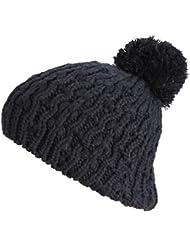 Belle POMPON Bonnet Chapeau d'hiver 2014 261 chapeau à pompon (noir)