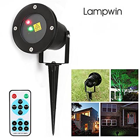 Lampwin Garden Projector Light Landscape LED Dynamic Firefly Light Waterproof Spolight Projector Light with Wireless Remote for Party