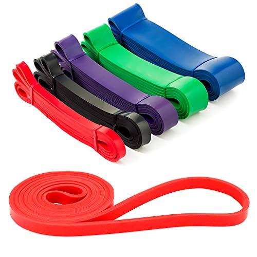 Jinzhao Elastici Fitness-Bande Resistenti per impieghi gravosi, Mobilità a Resistenza Elastica e Bande di Sollevamento Elettrico: perfette per riscaldarsi, Allungare, Allenarsi, resistere (Rosso)