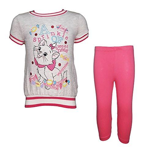 Completo neonata puro cotone maxi t-shirt + leggings marie aristogatti disney art. wd101178 (24 mesi, grigio melange)