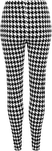 WearAll - Legging avec imprimé monochrome 'dogtooth' - Leggings - Femmes - Grandes tailles 40 à 54 Noir