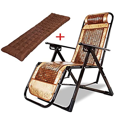 WYF-Meubles de salon Leisure Lounge Chair Fauteuil inclinable Bamboo Fold Office Siesta Lounger WYF-chaise ( Couleur : B )