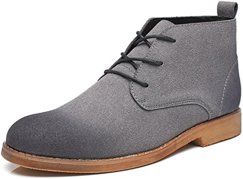 Männer   casual mode stiefel chelsea boots Männer englisch wind jacket meter kurze stiefel gray 42
