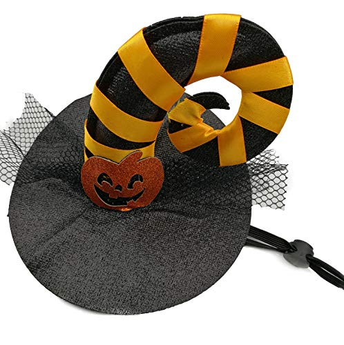 Halloween Hund Katze Haustier Cosplay Kostüm Kleidung Fledermaus Kostüm Horn Kürbis Spinne Kappe (Gebogener - Winkel Kostüme