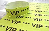 Twist4 Tyvek Einlassbänder Eintrittsbänder Kontrollbänder Partybändchen Einlassbänder Securebänder aus Tyvek (100 Stück, VIP Neongelb)