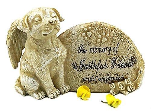 Elaan31 Hund Garten Statue Gedenkstein, Engel Pet Antik Stein in Memory of Ein treuer Freund und Begleiter -