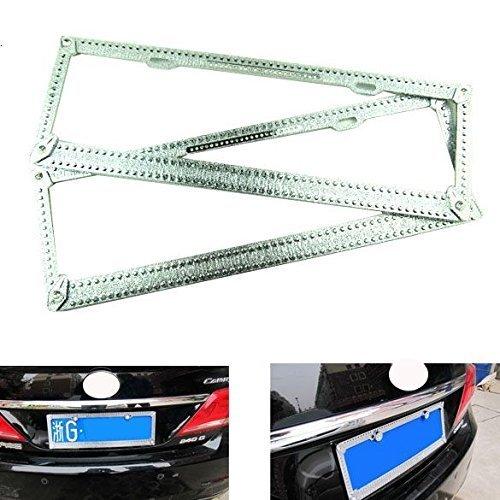 Auto-Stick Glanz Strass Kristall Lizenz Stahl sd-2602Teller Rahmen