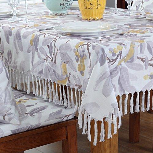 Tischdecken LINGZHIGAN Stoff Baumwolle Hanf Tuch Art Einfache rechteckige Tee Tisch Hochzeit Restaurant Party Tisch (Dieses Produkt verkauft) (größe : 135 * 200cm)