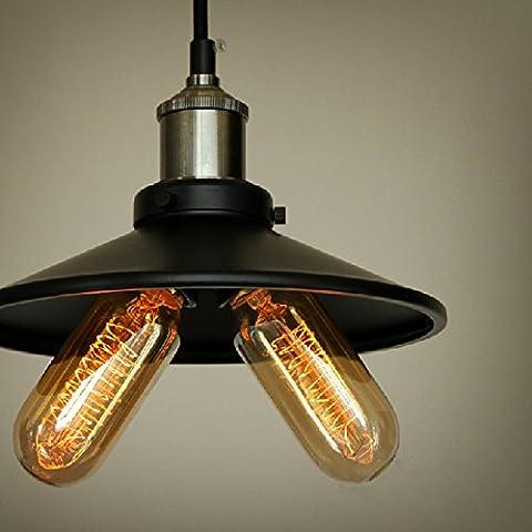 LYNDM Miglior regalo di Natale- Industrial Iron Vintage Loft Retro Ceiling Light Chandelier Pendant Lamp Fixture(Senza luce)